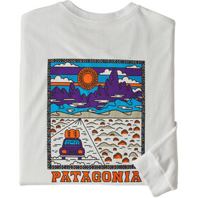 Patagonia Summit Road Langarm Responsibili Tee Herren white